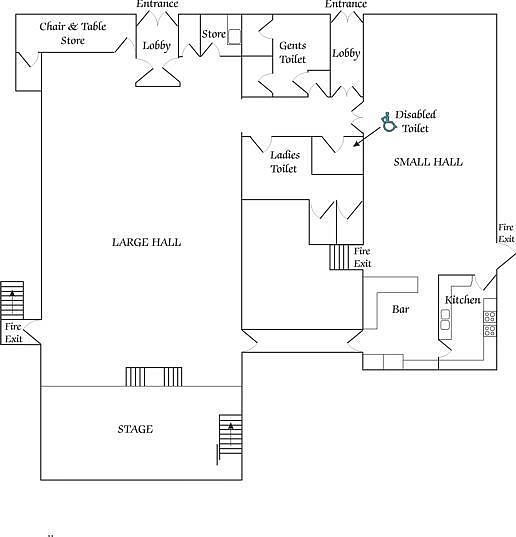 Click to Print Floor plan of the Village Hall