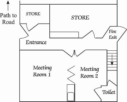 Floor plan of Meeting Rooms